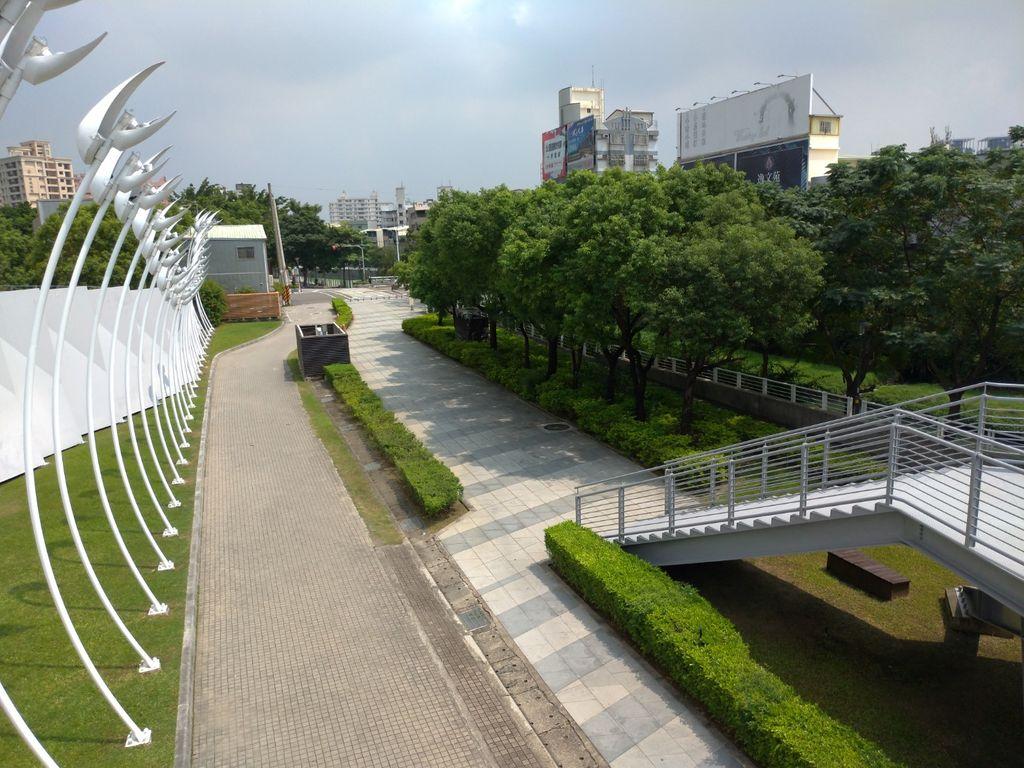 大東藝術中心旁的自行車道